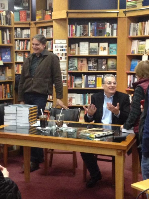 Matthew Patrick and John Patrick at book signing for Downing Dora Nine